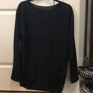 Ann Taylor black sheer long sleeve blouse